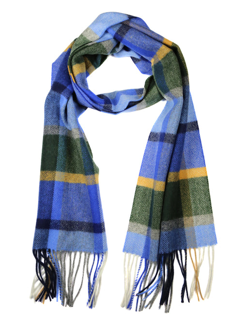 DÉCLIC Sedgemoor Check Scarf - Blue