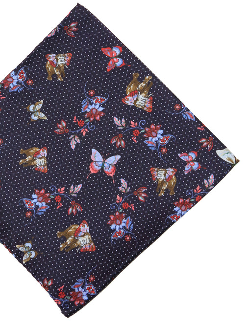 DÉCLIC Wings & Elephants Hanky - Red/Navy