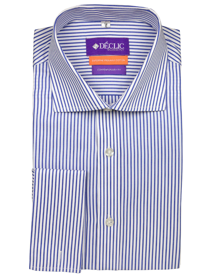 DÉCLIC Wired Stripe Shirt - Blue