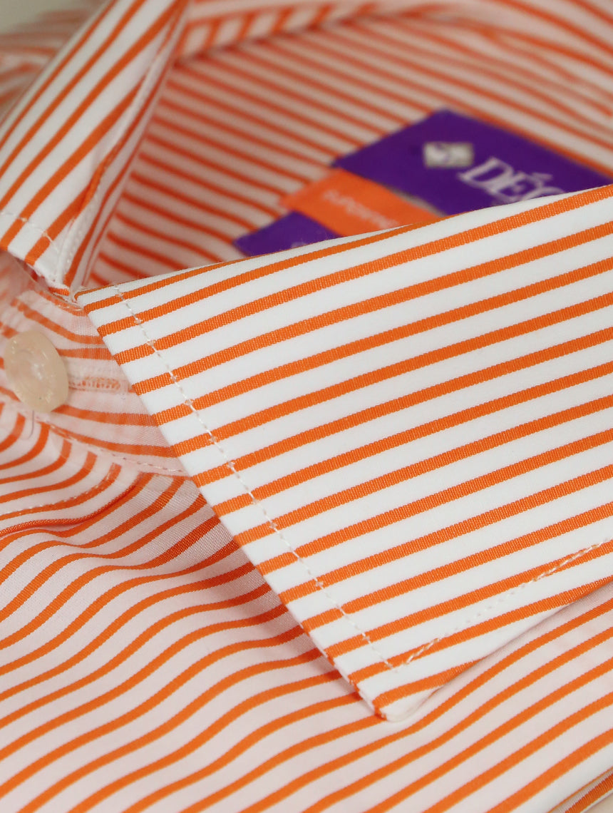 DÉCLIC Wired Stripe Shirt - Orange