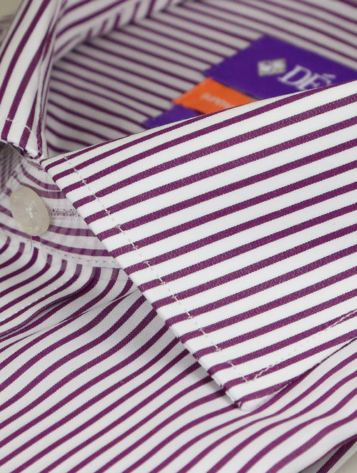 DÉCLIC Wired Stripe Shirt - Purple