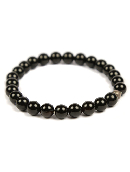 Men's Black Beaded Bracelet