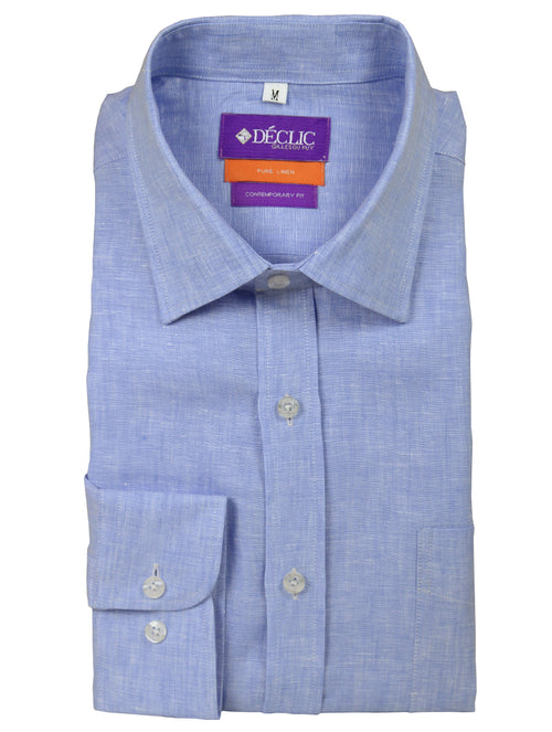 DÉCLIC Plaka Linen Shirt - Blue