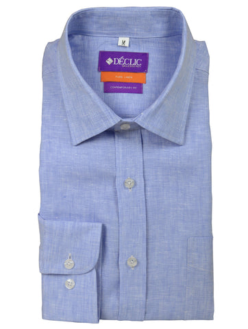 DÉCLIC Chilton Plain Shirt - Blue