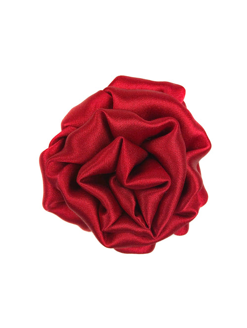 My Boutonnière Silk Lapel Pin - Red
