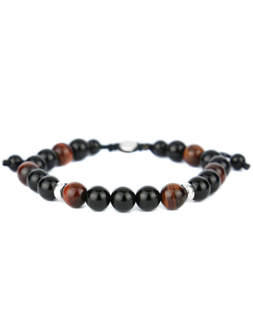 DECLIC Blue Striped Agate Mens Bracelet