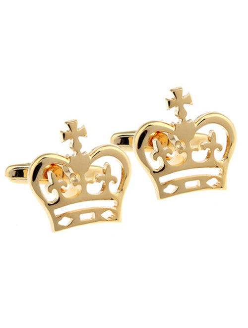 DÉCLIC Crown Cufflink - Gold