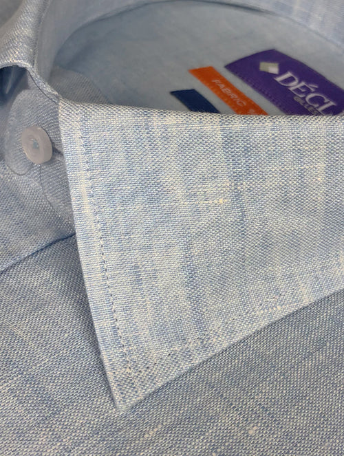 DÉCLIC Del Mar Linen Shirt - Blue