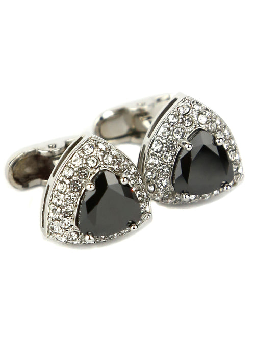 DÉCLIC Diamante Triangle Cufflink - Black