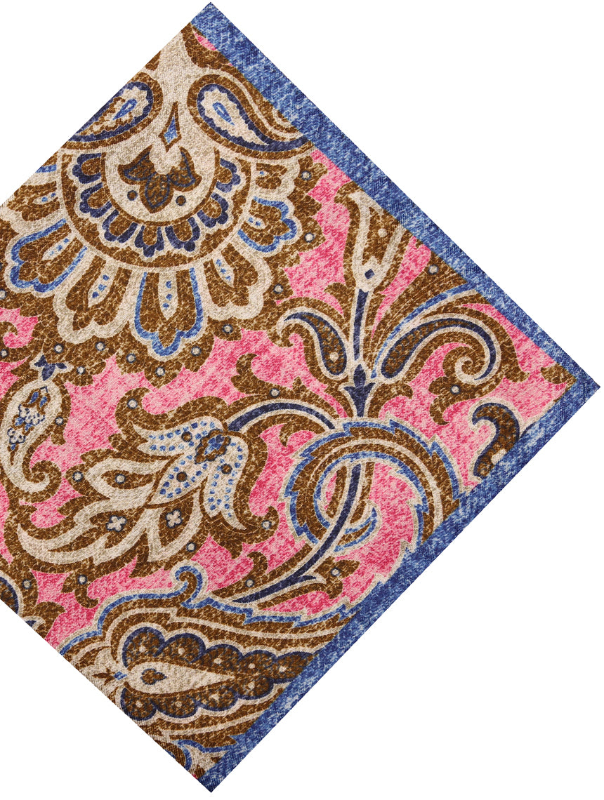 DÉCLIC Dynasty Paisley Hanky - Pink