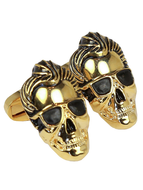 DÉCLIC Skull Rock Cufflink - Gold