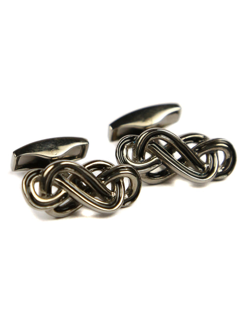 Tateossian Eternity Knot Cufflink - Black Rhodium