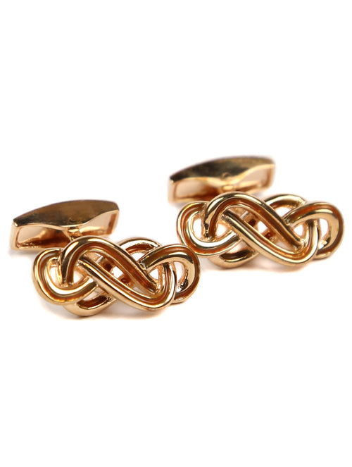 Tateossian Eternity Knot Cufflink - Rose Gold