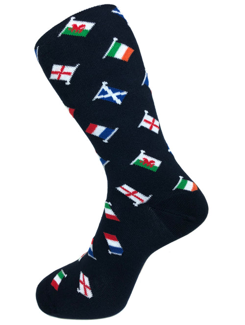 DÉCLIC Flag Socks - Navy