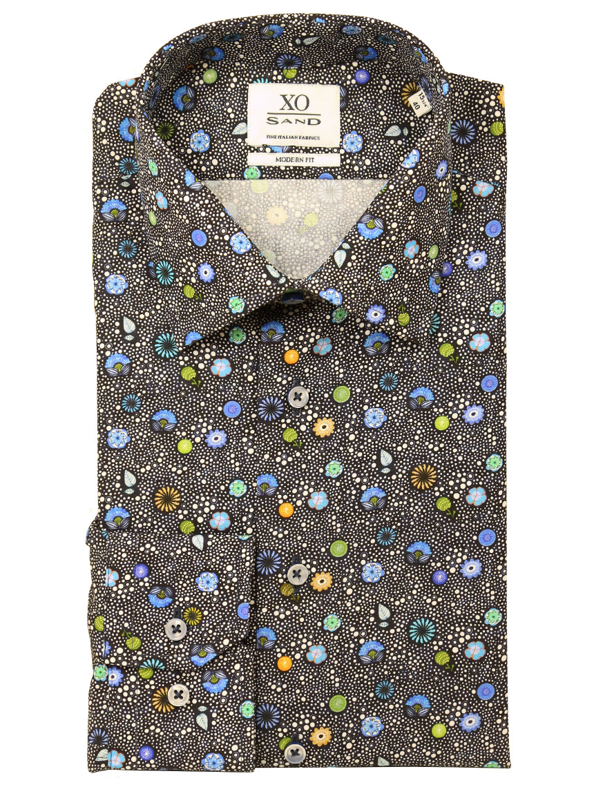 SD Flower Bubble Print Shirt - Assorted