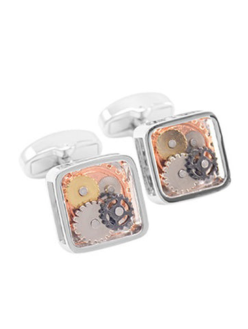 DÉCLIC Chinese Dragon Cufflink - Silver