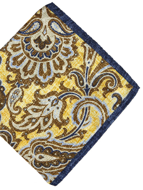 DÉCLIC Dynasty Paisley Hanky - Yellow