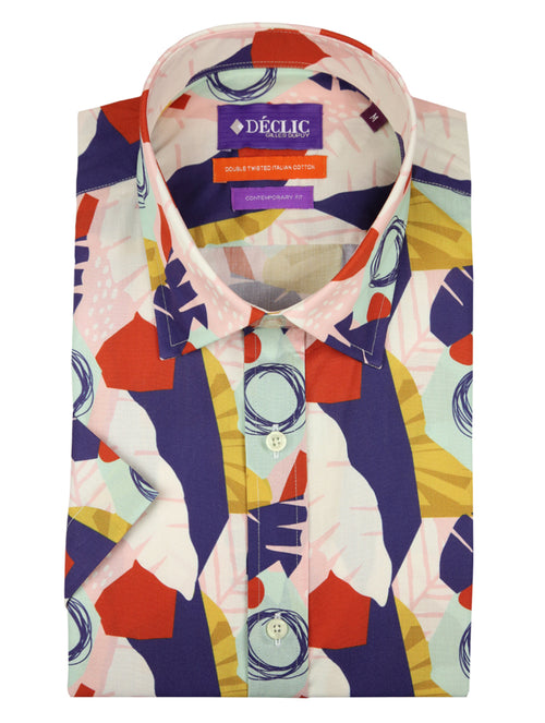 DÉCLIC Hawaii Mod Print Short-Sleeve Shirt - Assorted