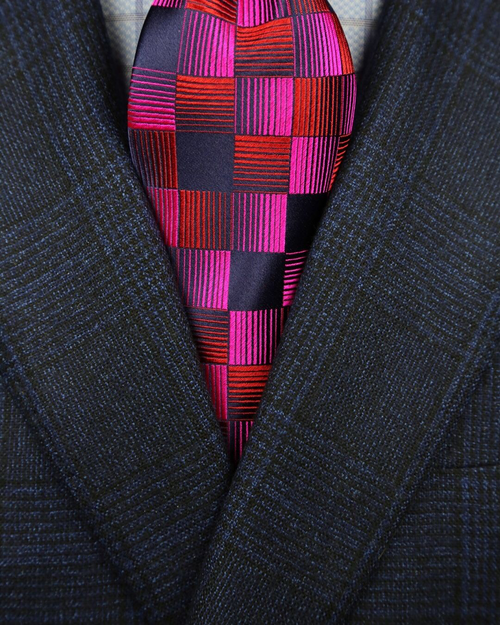 DÉCLIC Ceres Pattern Tie - Red/Fuschia