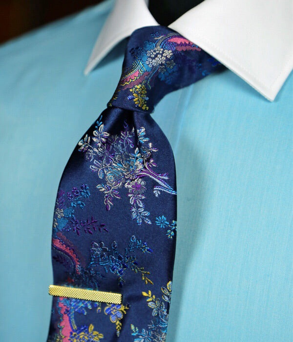DÉCLIC Botte Floral Tie - Blue/Navy