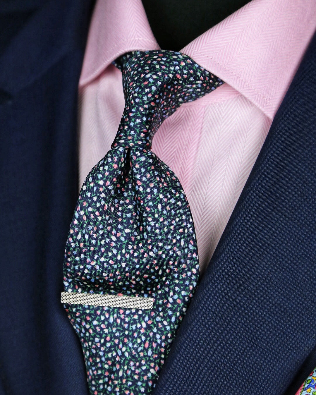 DÉCLIC Auriga Floral Tie - Navy/Assorted
