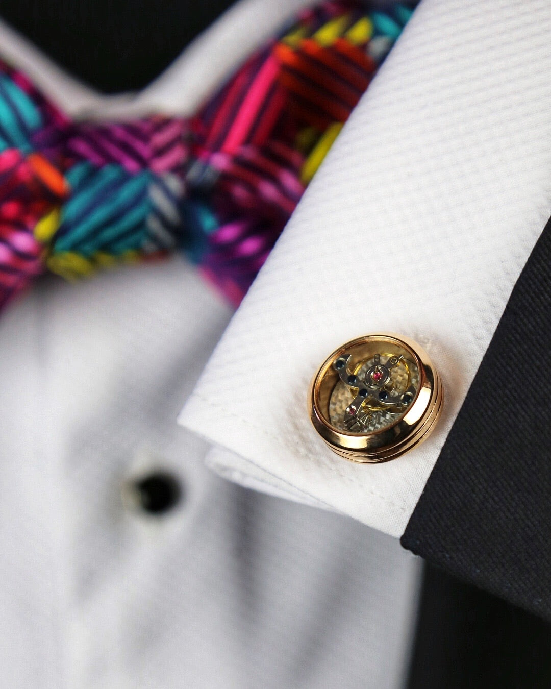 DÉCLIC Tourbillon Cufflink - Rose Gold