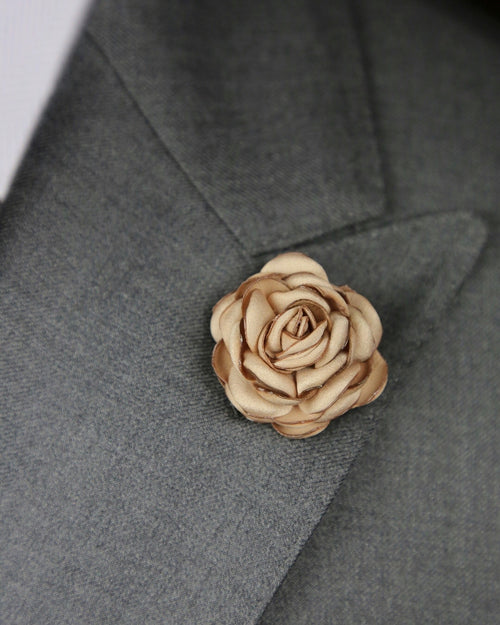 DÉCLIC Flower Rose Lapel Pin  - Gold