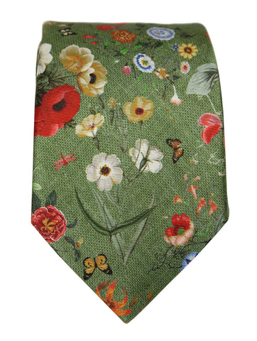 DÉCLIC Lux Floral Tie - Red/Black