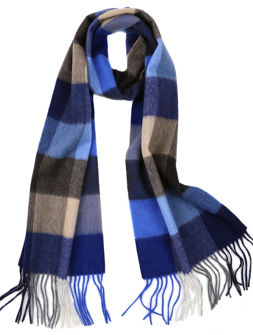 DÉCLIC Kare Check Scarf - Blue