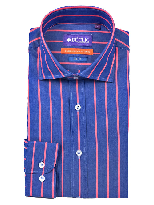 DÉCLIC Karni Stripe Shirt - Red