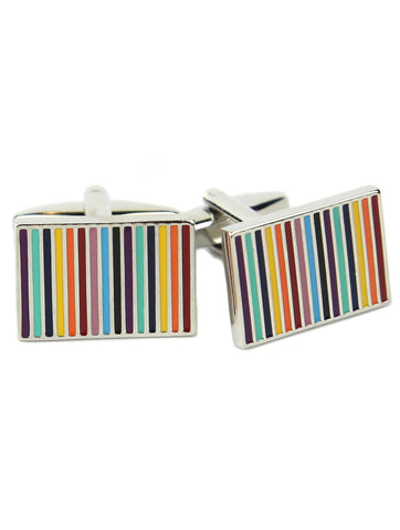 DÉCLIC Brushed Rounded Rectangle Cufflink - Silver