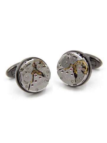 DÉCLIC Jasper Enamel Cufflink - Orange