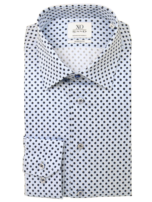 SD Occy Spot Print Shirt - Blue