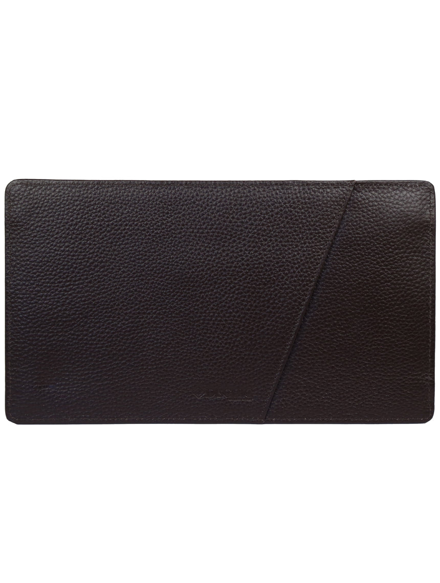 DÉCLIC Leather Passport Wallet - Chocolate