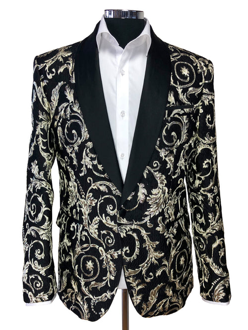 DÉCLIC Prix Brocade Jacket - Gold/Black