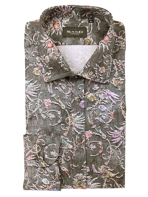 SD Vintage Floral Print Shirt - Assorted
