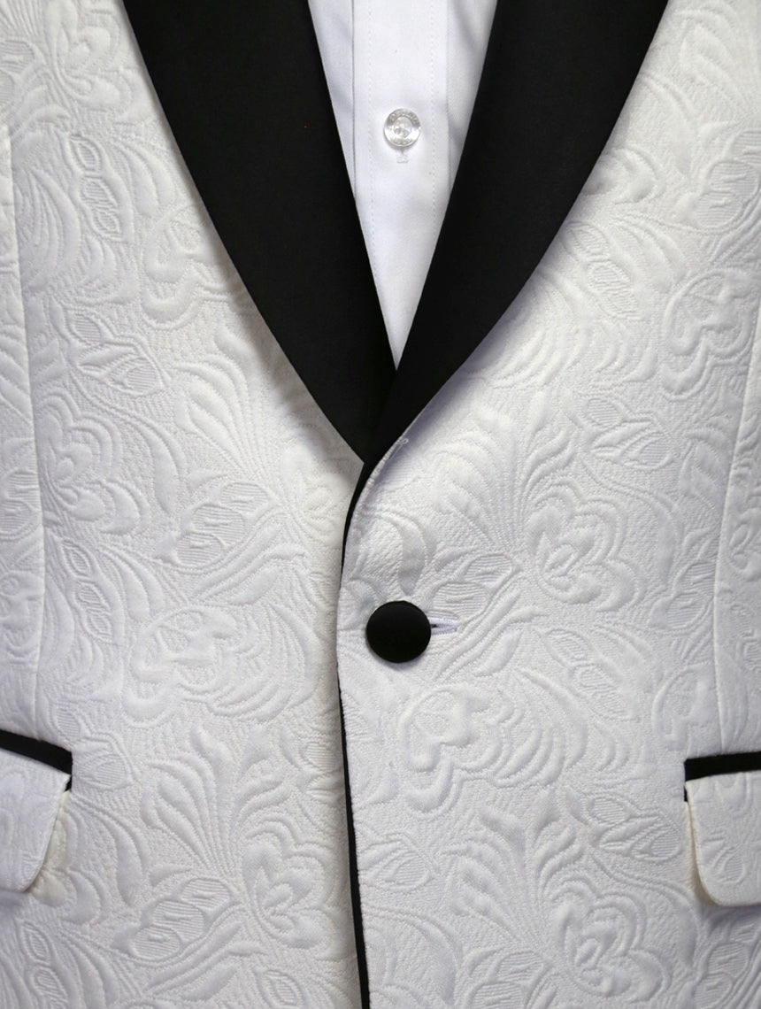 DÉCLIC Zane Brocade Jacket - White