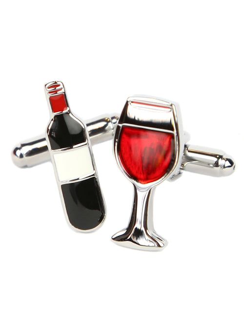 DÉCLIC Wine Bottle & Glass Cufflink