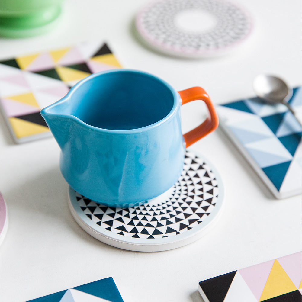 Geometric Pattern Square Round Ceramic Coffee Cup Holder Saucer Dishes Fruit Plates Afternoon Tea Dishes Fruit Plate Cup mat  sc 1 st  boom house interiors & The Marketplace \u2014 BOOM HOUSE INTERIORS