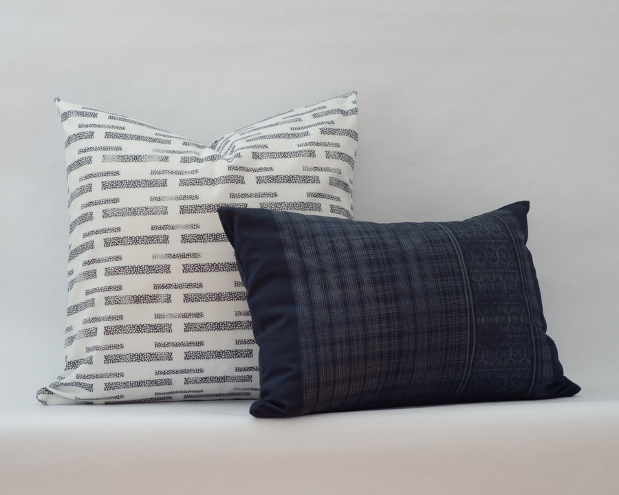 Henley Cushion Cover in Polo Blue
