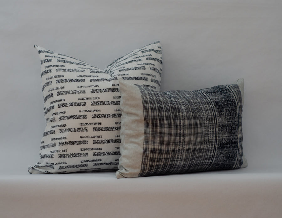 Henley Cushion Cover in Tuxedo