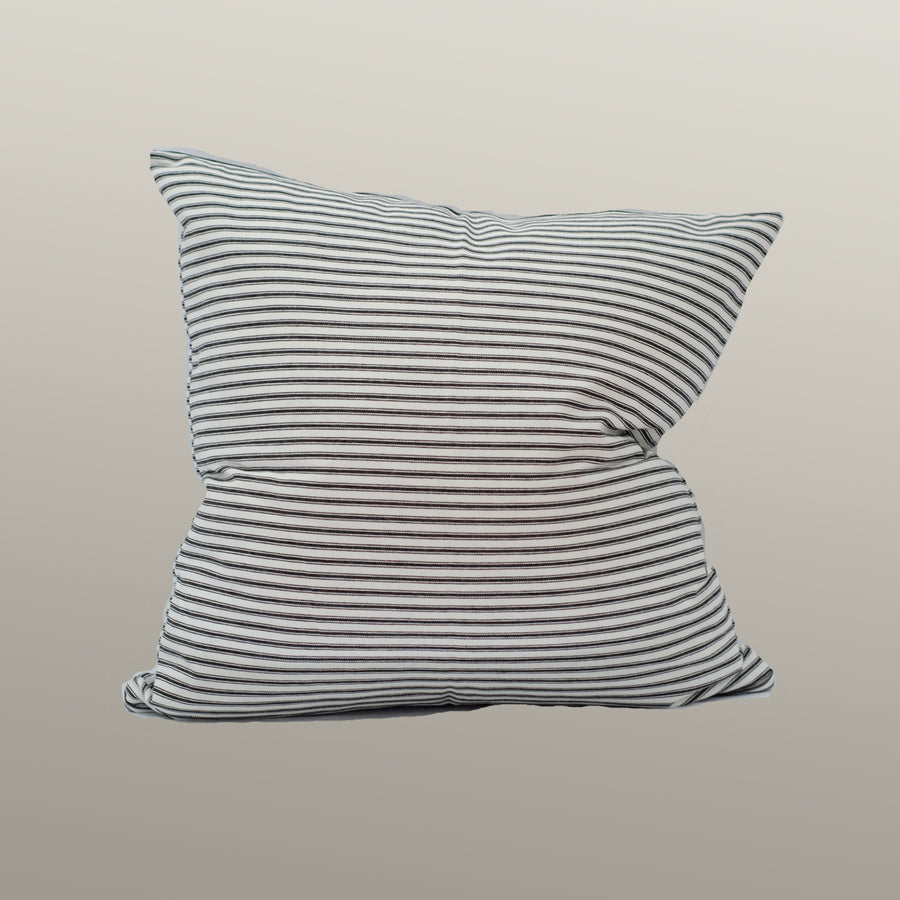 Black and White Ticking Pillow Cover