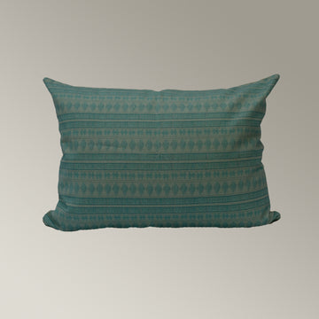 Green Geometric Pillow Cover
