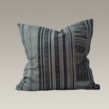 Harlowe in Black on Cream Pillow Cover