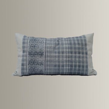 Henley Pillow Cover in Blue