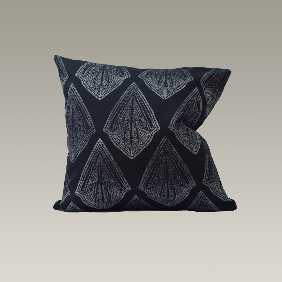 Maya Cushion Cover in Midnight-Navy