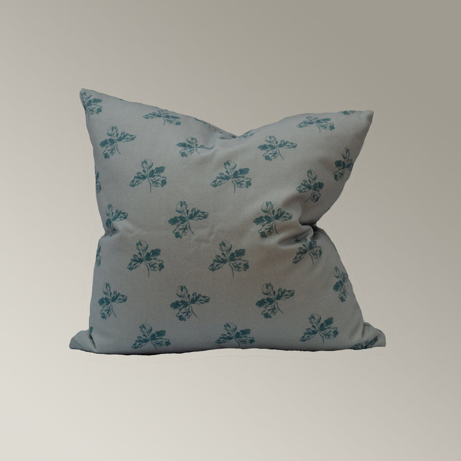 Oak Leaf Pillow Cover in Baby Blue