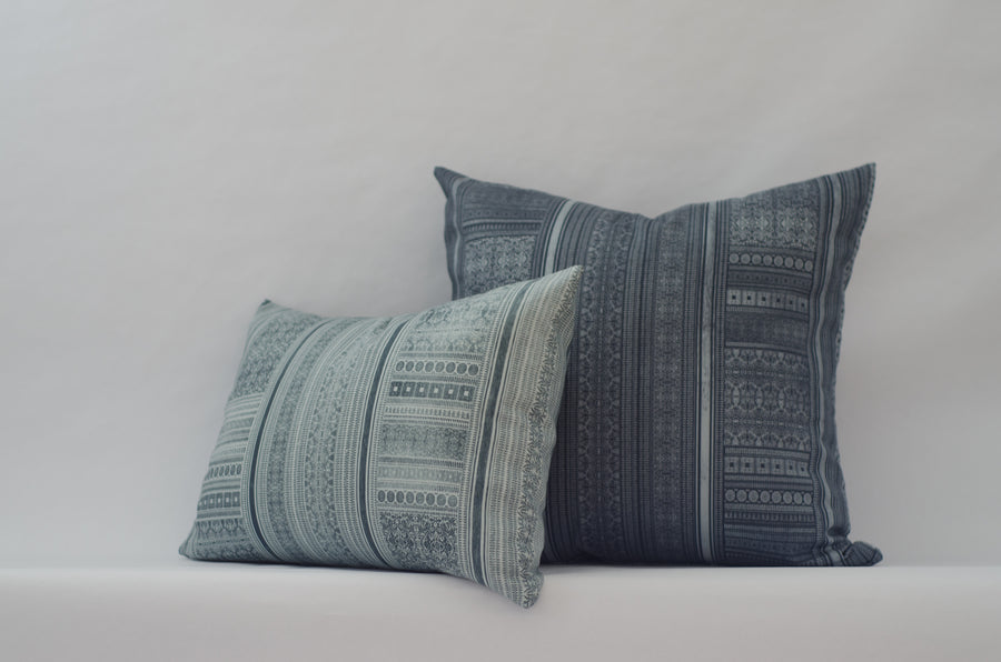 Harlowe Cushion Cover in Prussian Blue