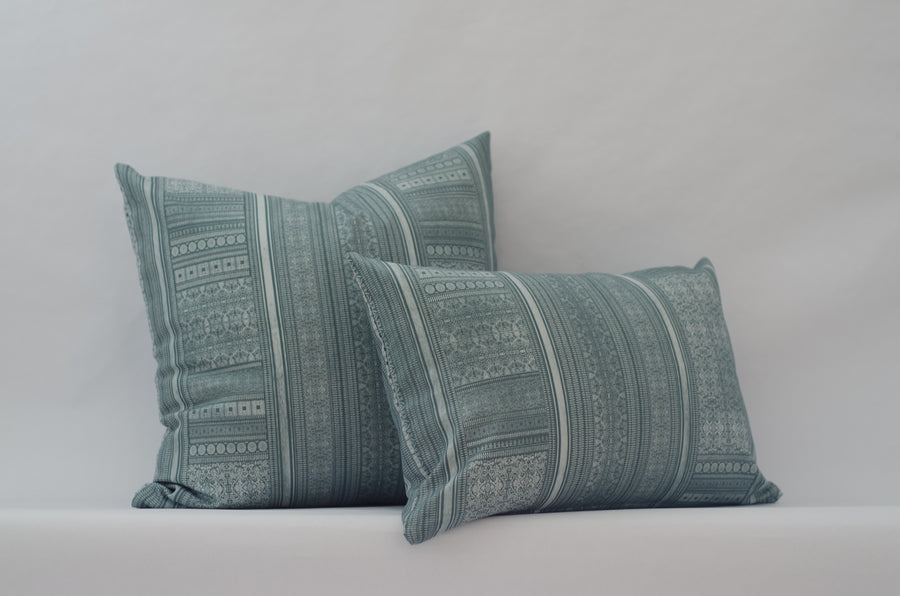 Harlowe Cushion Cover in Cyan
