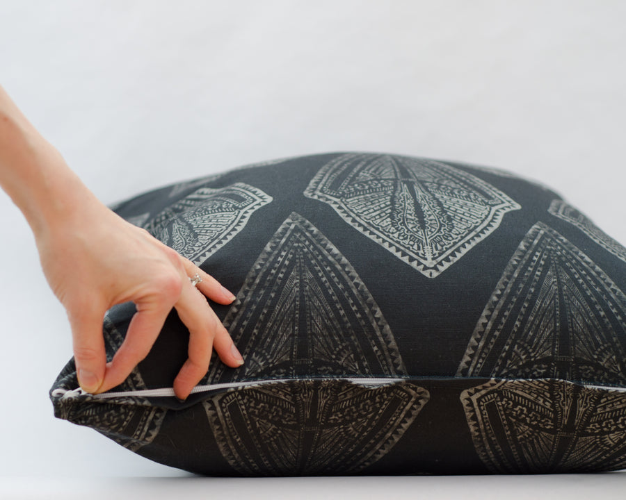 Maya Cushion Cover in Midnight